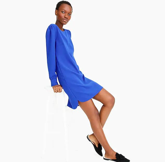 Accidental rhyming aside, this dress really does have the perfect balance of being casual and comfortable while still having a chic appearance — making it perfect to wear at any event. Get it from J.Crew for $118 (available in three colors and sizes 00–16).