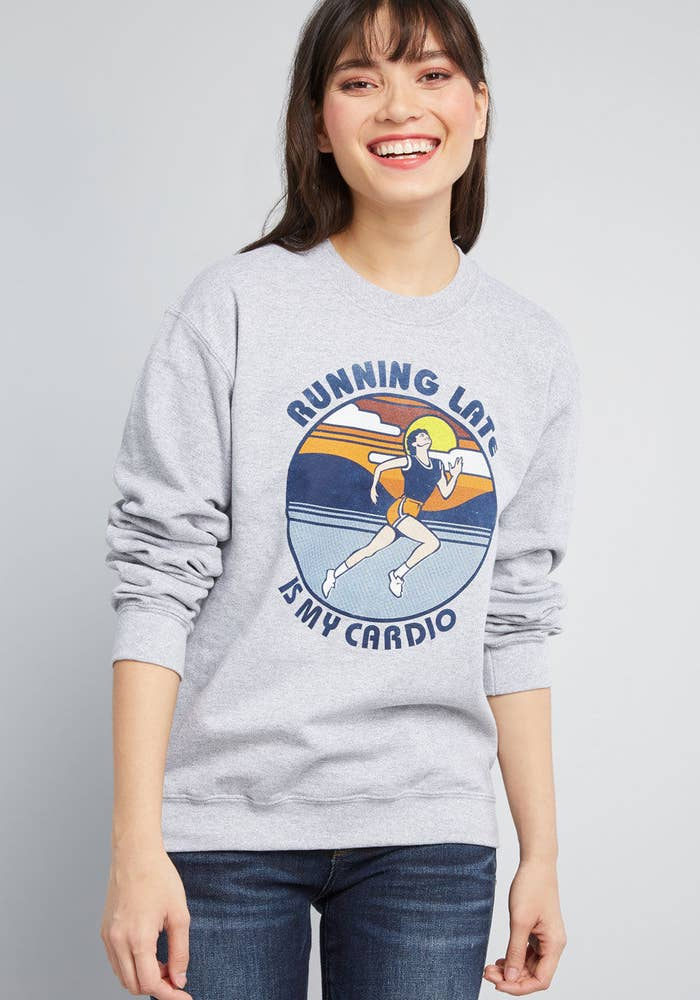 My life cardio routine will also include running from my problems, feelings, and responsibilities. Get it from ModCloth for $45 (available in sizes S–XXL).
