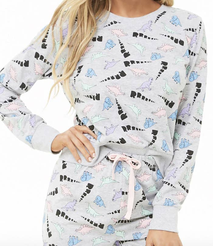 A dinosaur pajama set that will assure your winter hibernation is a roaring  good time. 821a28d70