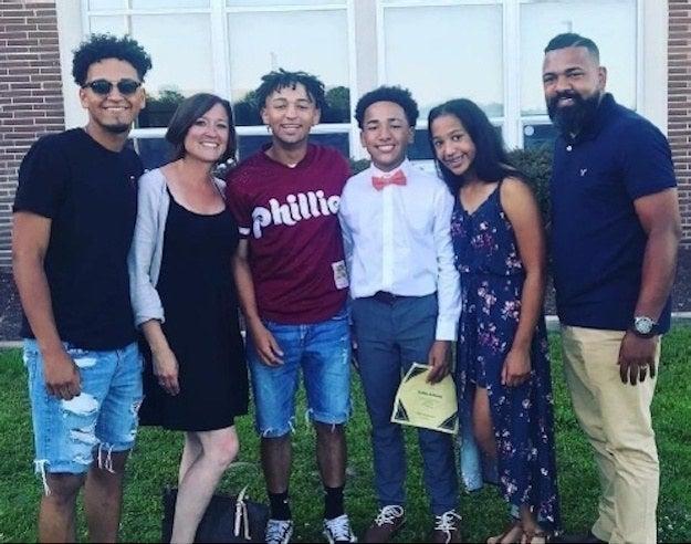 Matt (left), Rosa, Andrew, Nate, Cami, and Charles Johnson.