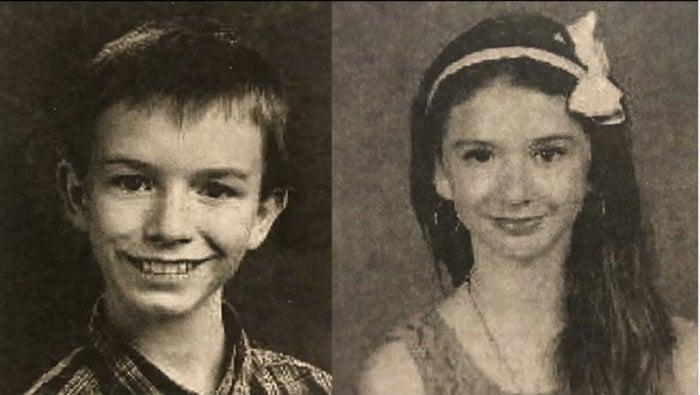 Elwyn Crocker, left, and Mary Crocker in their school pictures.