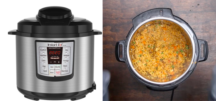 Seriously though, Instant Pots get a lot of hype, and it all seems to be very legit. It's an all-in-one pressure cooker, slow cooker, rice cooker, sauté pot, steamer, warming pot, and yogurt maker, that makes meal prep and cooking so much easier. It has thousands of fans who swear by it and all of the food it makes, so get ready to have your world rocked by this hulking piece of metal and plastic.