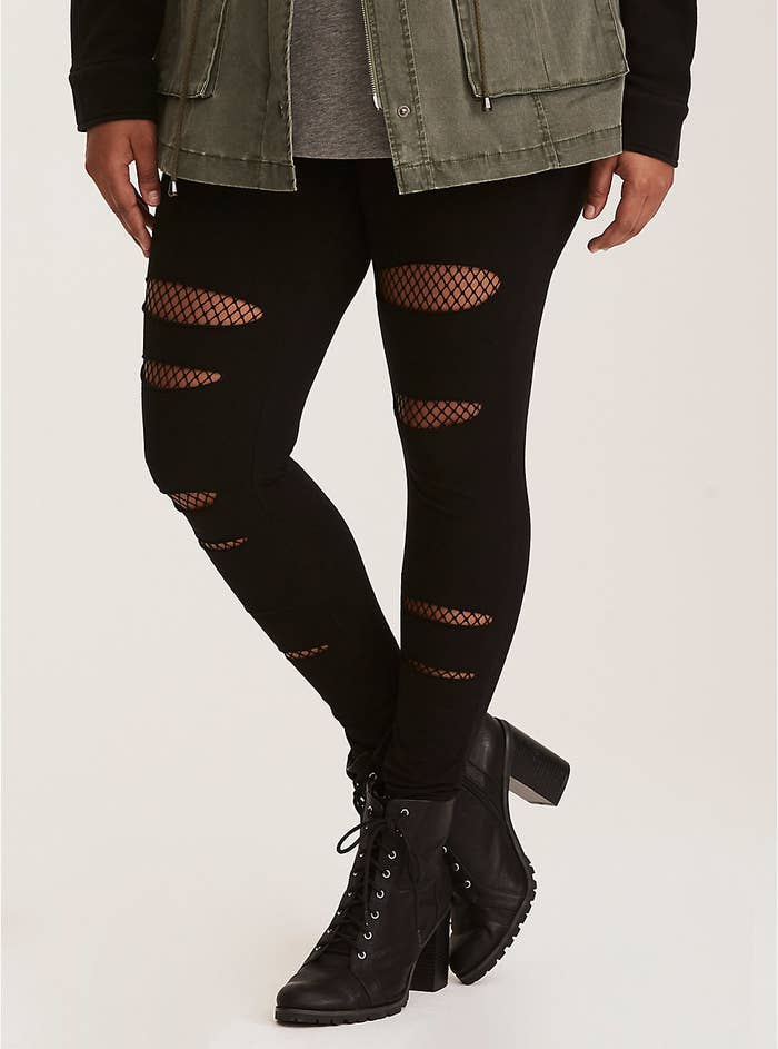 "Promising review: ""The material on these is quite thick compared to other leggings, which is great. They can be worn as trousers almost (I don't like wearing leggings without short or skirts over) and go great with pretty much everything."" —CARO87Get them from Torrid for $32.90 (available in sizes M–6X)."