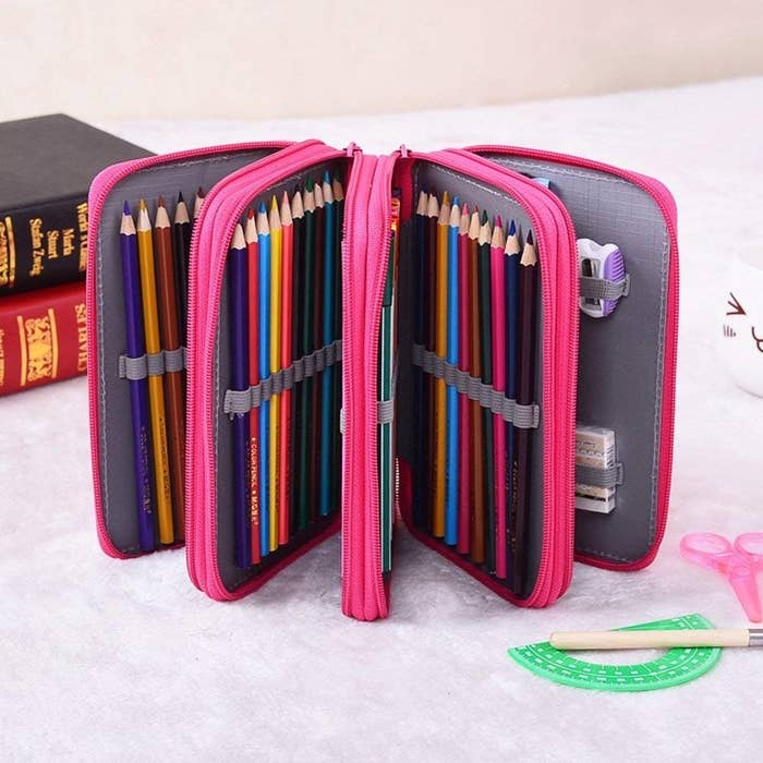 eddd19f602a A colored pencil organizer so you can be properly equipped to stress-color  your feelings out