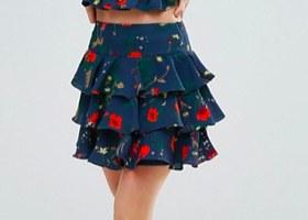 A ruffle skirt