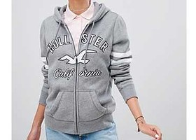 A Hollister hoodie