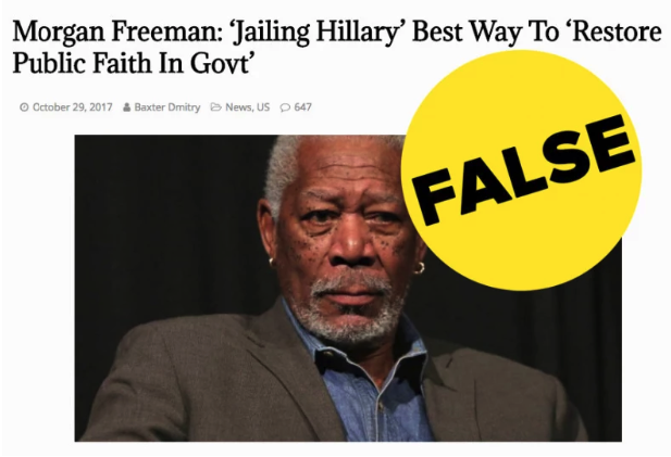 "Morgan Freeman didn't say ""Jail Hillary,"" but  that false claim keeps going viral. -  The  post  was originally published in late 2017 by Your News Wire, a website that frequently pushes false news stories and conspiracy theories."
