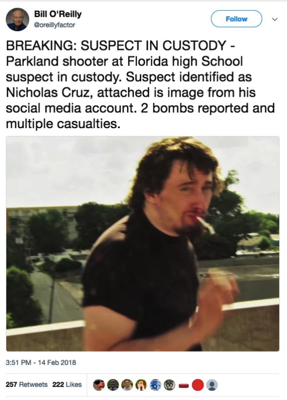 During every shooting, trolls spread false images of suspects and victims. Images of Sam Hyde, a far-right YouTuber, made an appearance during many attacks this year, including the  Parkland ,  YouTube , and  Jacksonville  shootings.
