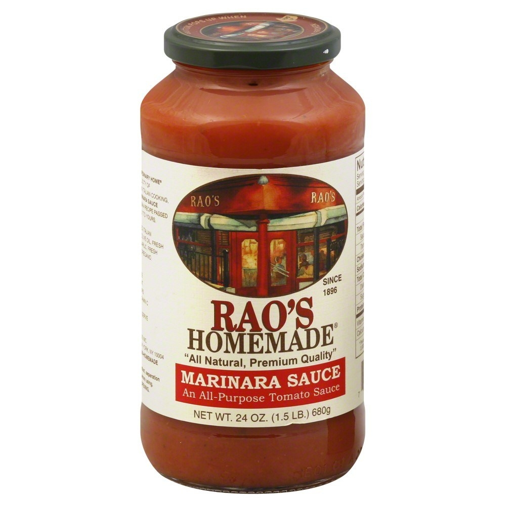 Slightly less than 4 net carbs per serving, Rao's just might be the lowest carb marinara sauce out there. You can also get a 24 oz. jar online from Jet for $8.79.