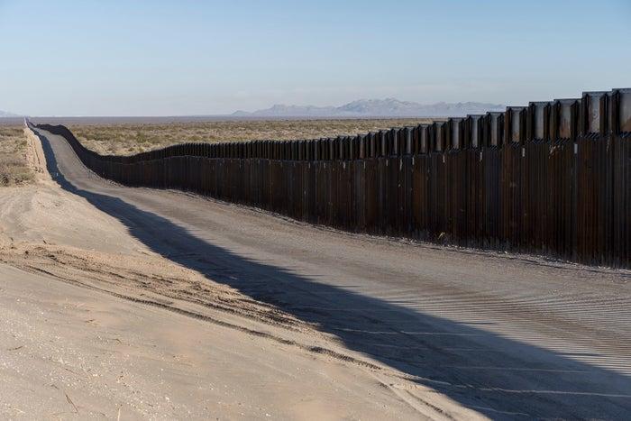 The border fence near New Mexico's Highway 9, near Santa Teresa on Dec. 23, 2018.