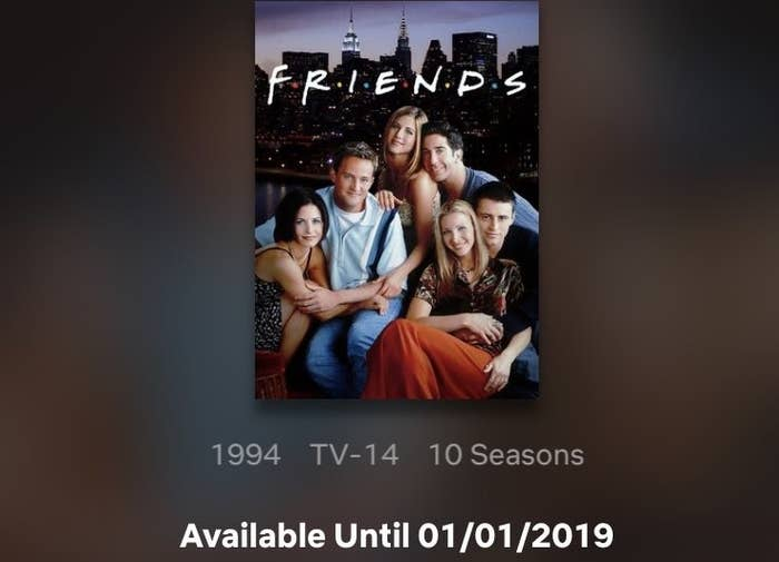 Friends Is No Longer Leaving Netflix On January 1 And Everything Is