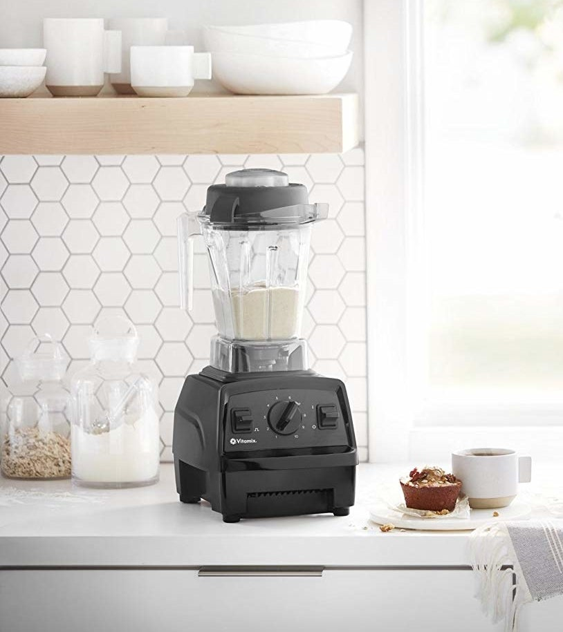 "This is our luxury pick for the best kitchen blender on BuzzFeed Reviews!Promising review: ""Bought this about a month ago. Love it so far! A big reason I bought this model was because it was a little cheaper, and I read quite a few reviews that said it fit under the kitchen cabinets (which it does). Yes, it's a little loud when you crank it up to 10, but I think that's to be expected with a powerful motor. So far, I've used it for grinding coffee beans, making bulletproof coffee every morning, a smoothie every afternoon, and yesterday, I riced some cauliflower in it for a recipe. It comes with a tamper to push things down if needed and that has worked great. I'm looking forward to shredding chicken, doing pancake batter, and making two-ingredient bagels and pizza dough from Weight Watchers in it to see how those work. I'm also looking forward to donating my previous cheap blender, my coffee grinder, and hand blender. I've already gotten rid of my food processor. This appliance may cost more, but it can do SO many things, I believe it's totally worth it."" —KathyGet it from Amazon for $299.95 (available in three colors)."