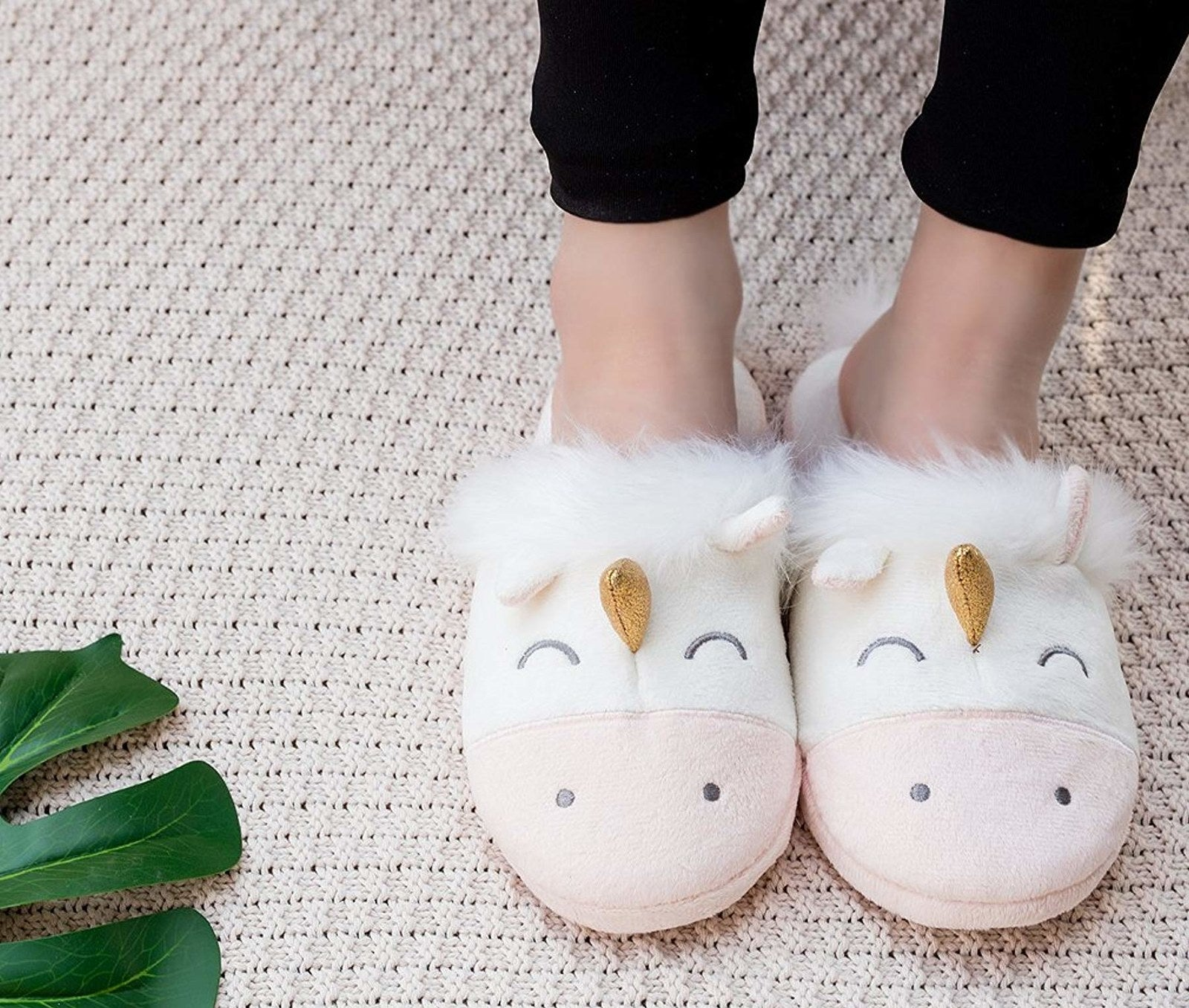 the unicorn slippers