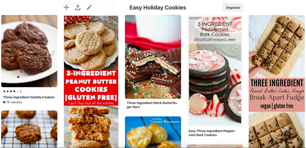 So I went looking for some easy baking inspiration and found a handful of three-ingredient cookies on Pinterest. I figured it has to be pretty hard to mess up such a simple baking project, right?