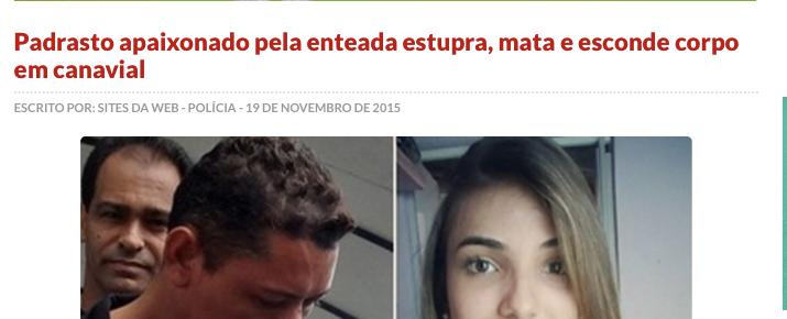 """Ninguém estupra e mata """"por amor""""."""