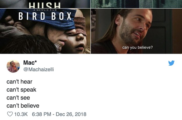 Bird Box Is A Meme Now With Help From A Quiet Place And Hush