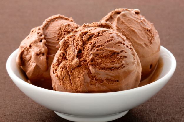 It's chocolate ice cream!