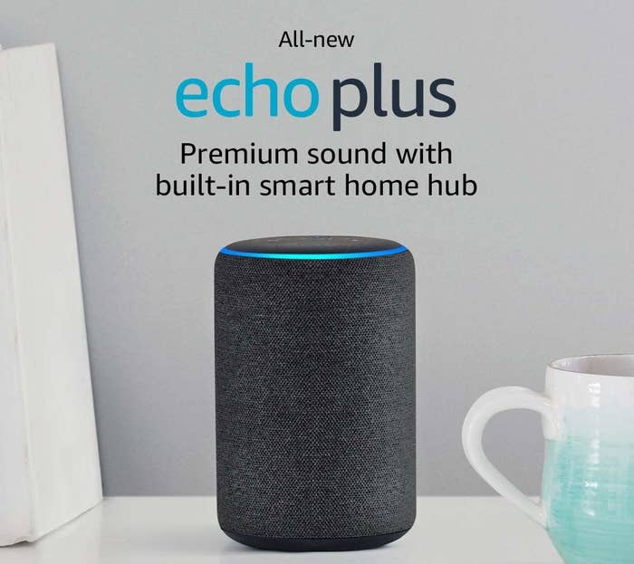 An All New Amazon Echo Plus Designed To Make His Life Easier When Completing Small Tasks Does He Want Know What Dad Bod Means And If Has One