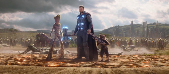 """Thor's epic entrance on the battlefield in Wakanda at the climax of Avengers: Infinity War was originally written to be Captain America's big reveal. -  """" Everybody at Marvel, I think other than Joe and I, were mad at us because we were bringing him in the movie so late ,"""" co-director  Anthony Russo  said."""