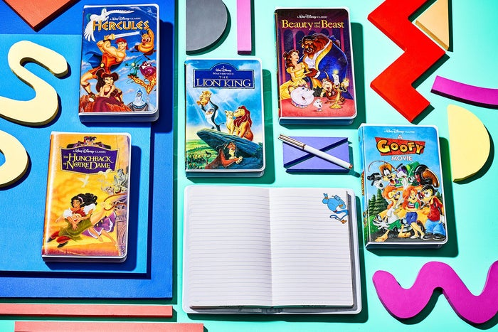 The first page is even printed with the VHS cassette!Get them from shopDisney for $14.95 each.