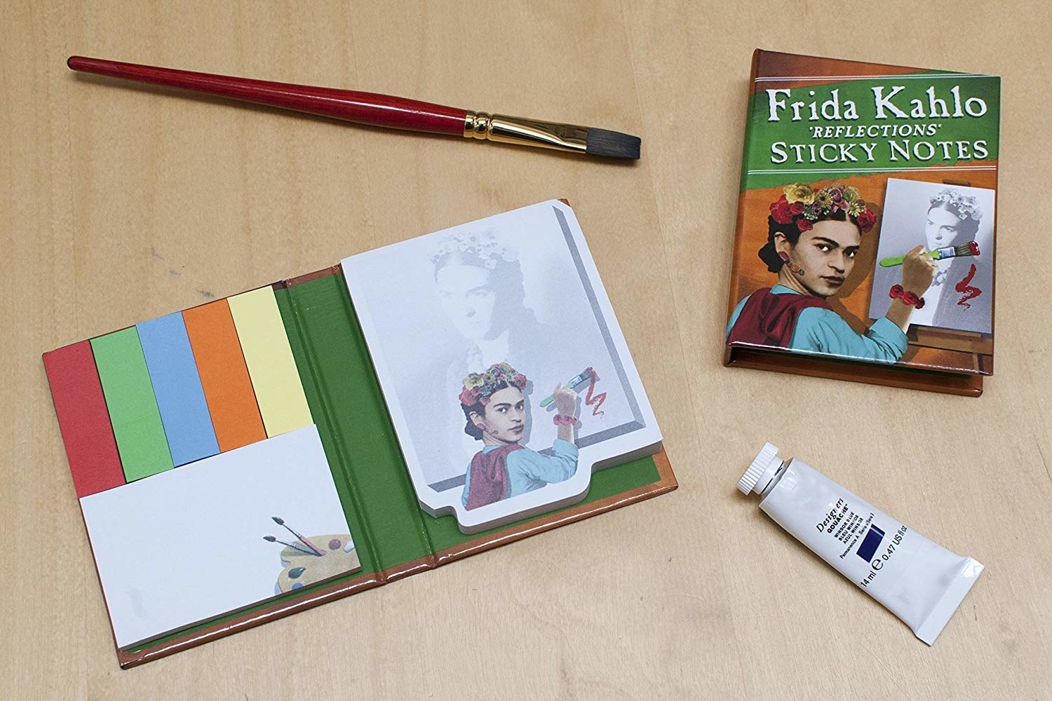 various Frida Kahlo theme sticky notes in a little book