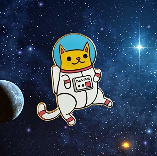 astronaut cat pin