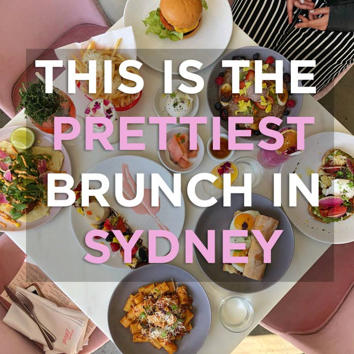 Every thing is millennial pink, and the food is amazing.