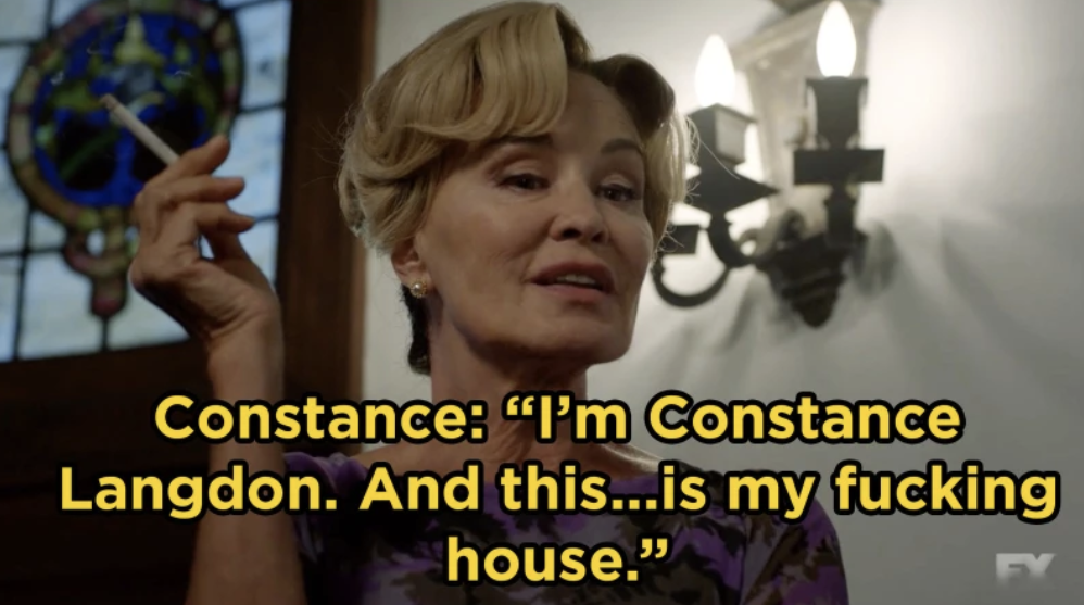 In  American Horror Story: Apocalypse , Jessica Lange made her long-awaited return as Constance Langdon when we went back to Murder House.