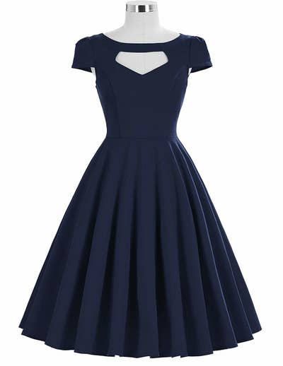 90493394865 A vintage-inspired cocktail dress perfect for twirling around in circles