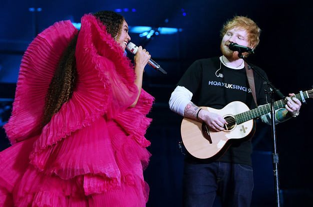 These Pictures Of Beyoncé And Ed Sheeran Have Sparked A Massive Debate About Double Standards