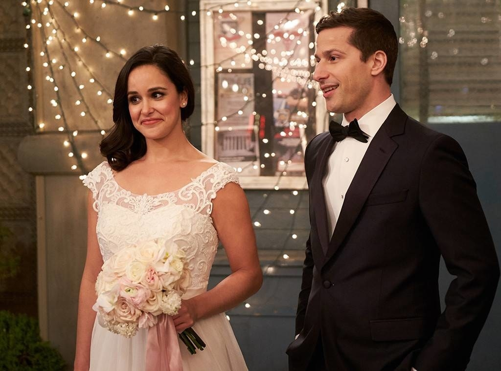 In  Brooklyn Nine-Nine , Jake and Amy finally got married in an utterly perfect ceremony outside the precinct.