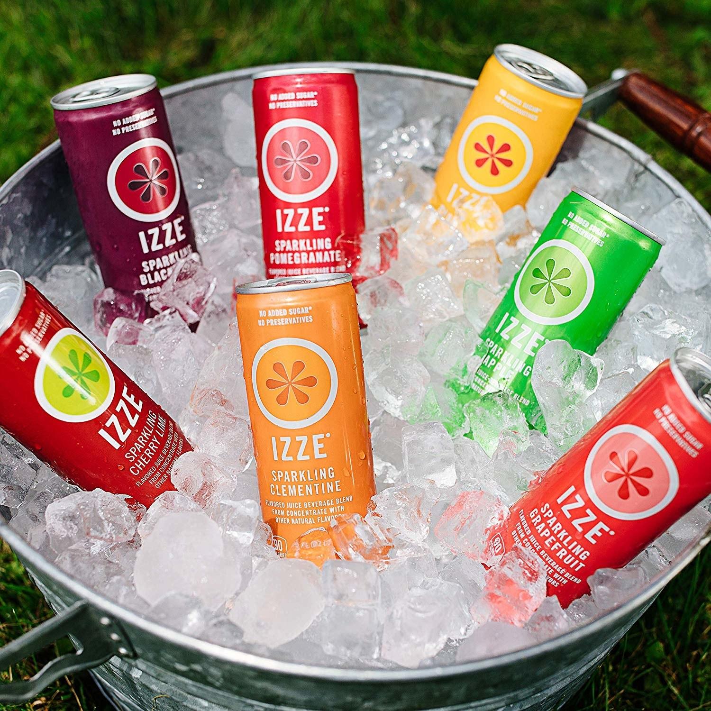 Canned drinks inside ice bucket