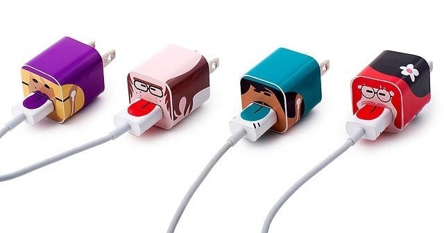 "Promising review: ""They can never fight about phone charging cords again! They will each have their own person on their cord. Better part is they can't take mine! Perfect stocking stuffer for a family!"" —I love quesoGet it from UncommonGoods or The Grommet for $12.95."
