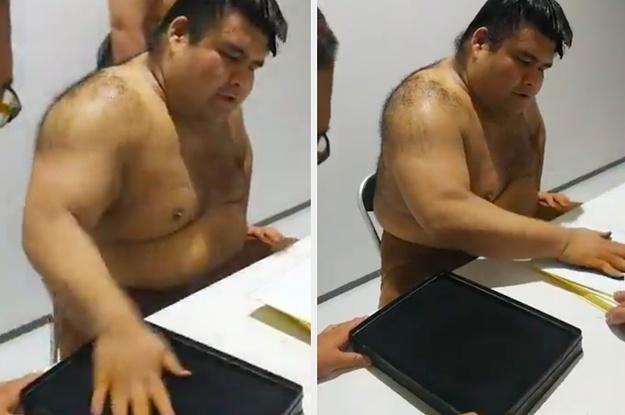 I Cant Stop Watching This Sumo Wrestler Sign Autographs