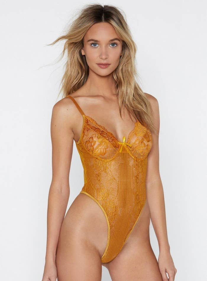 7e1353c61 A lace bodysuit that ll look amazing both alone and with bottoms —  OBVIOUSLY they ll want to show this off all the time.