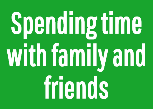 Spending time with family and friends