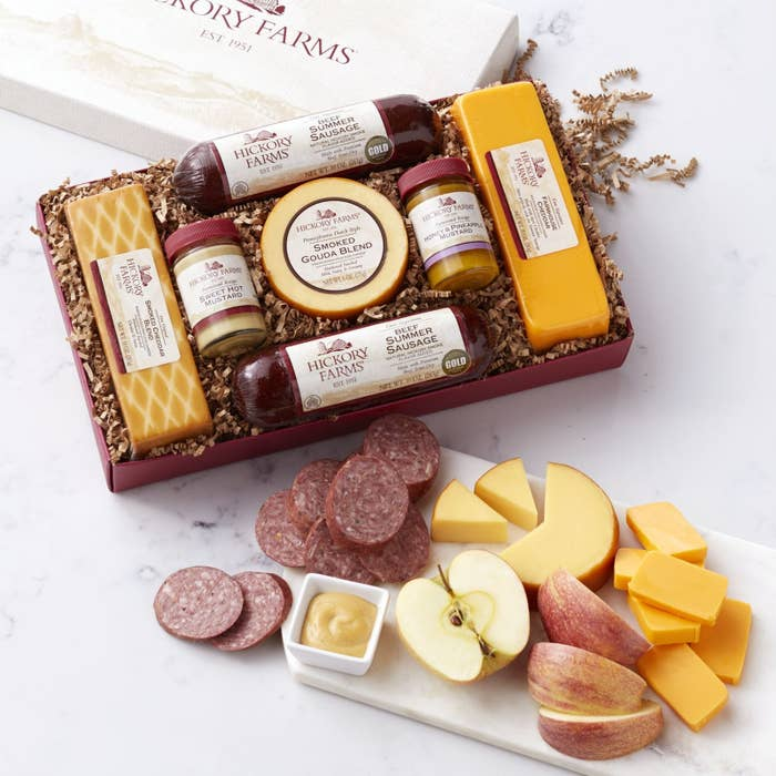 A Hickory Farms Gift Box Made Up Of Summer Sausage And Cheese Trust Me Its Gouda