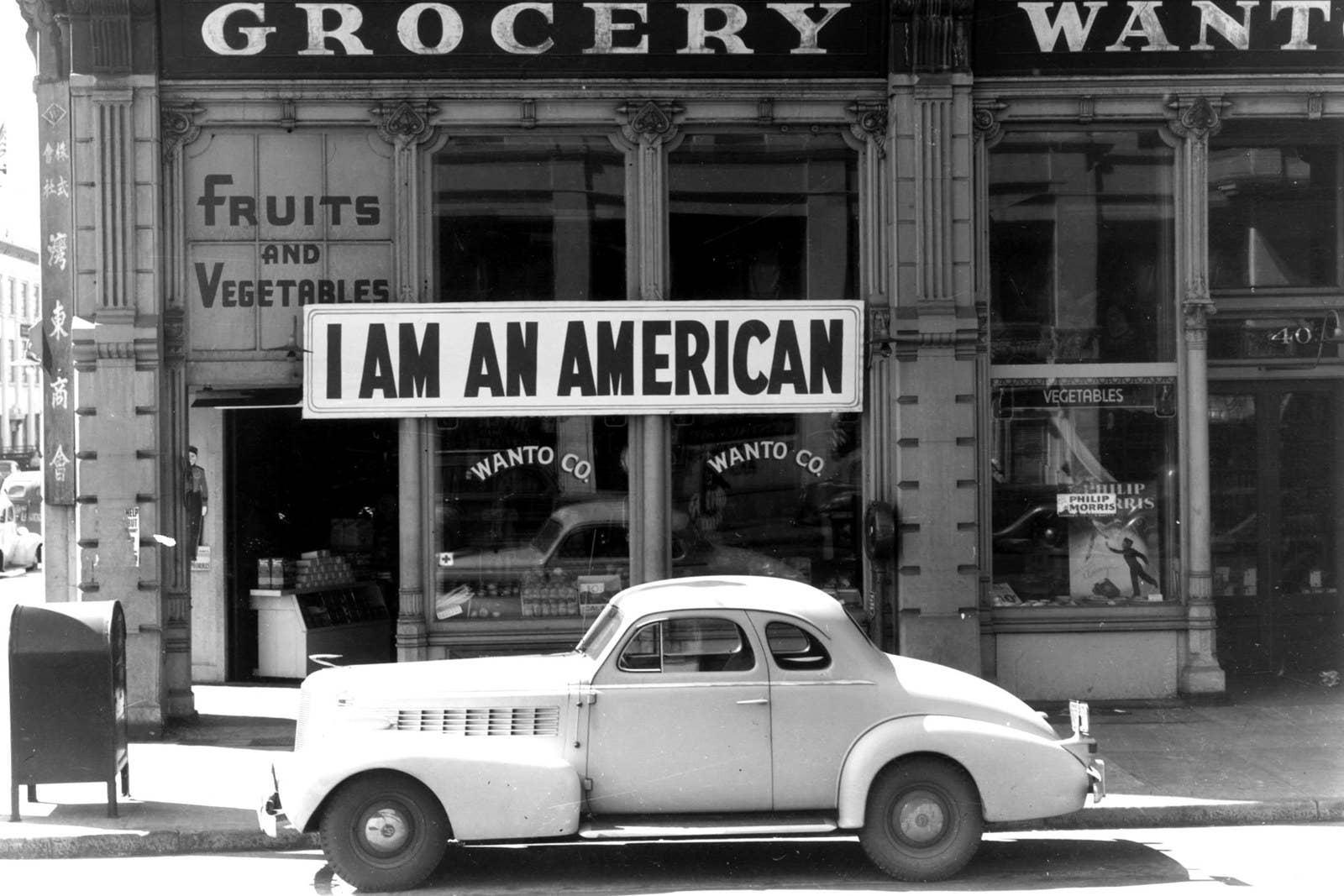 The day after the attack on Pearl Harbor, the owner of this shop in Oakland, California, who is a University of California graduate of Japanese descent, put this notice across his shop front.