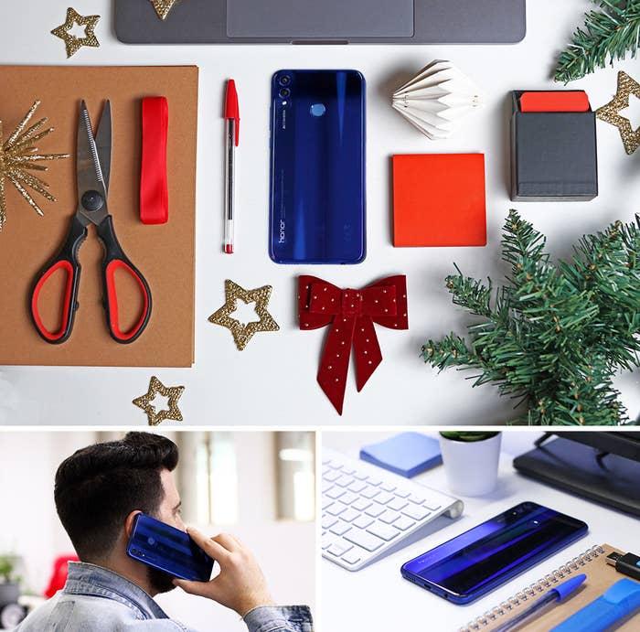 Con una Pantalla Completa de 6.5 pulgadas y Cámara Dual de 20 MP IA, las especificaciones del HONOR 8X te dejarán boquiabierto. Viene en azul y negro, y con un diseño que llama la atención, una calidad increíble en su cámara y su batería de larga duración, este teléfono es el regalo perfecto para todo joven conocedor de la tecnología. Por sólo €249, este smartphone será tu mejor regalo de Navidad este año.