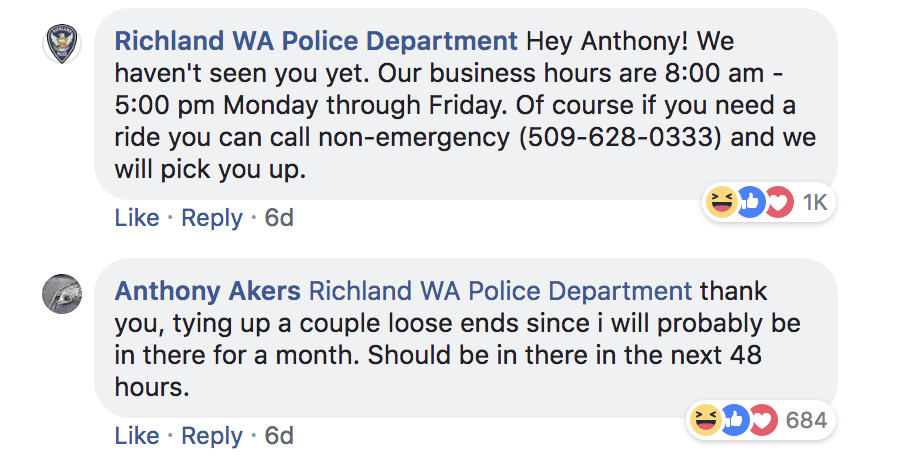 Despite his promises, Akers ghosted the police.