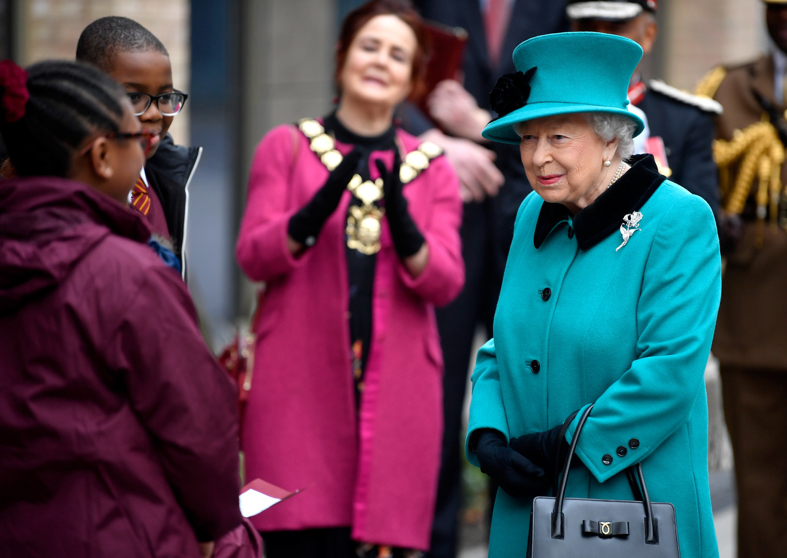 On Wednesday, Queen Elizabeth visited Coram, one of the oldest children's charities in the UK.