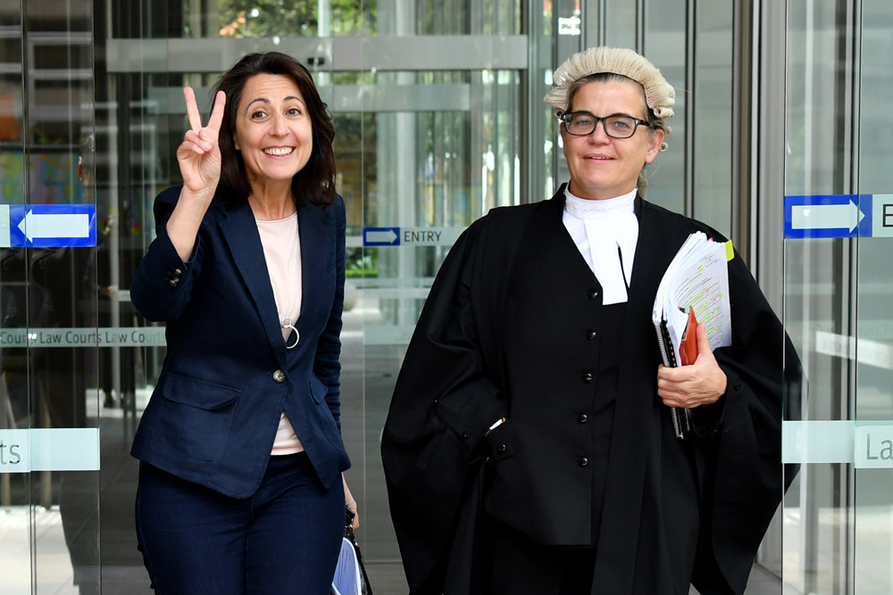 Esther Rockett after winning the defamation case.