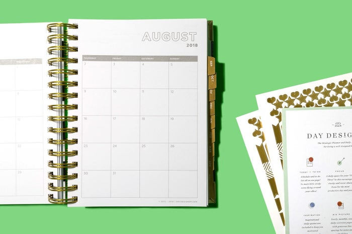 FYI, this was our mid-price pick for the best planner on BuzzFeed Reviews. Why? It's great for students and adults who want to align their personal and work lives, which is something we could *all* use. Get it from Amazon for $54 or from Day Designer for $49.If you're looking for a cheaper planner, check out the budget pick for BuzzFeed Reviews, which will run you $18.99 on Amazon. (It also includes helpful stickers!)