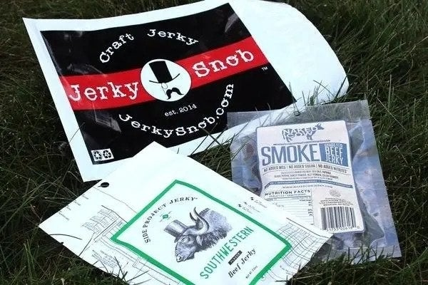"""What you get: Choose from two bags, half a pound, or a pound of artisan jerky each monthPromising review: """"Alright, so my husband and I love jerky but, the real stuff. We didn't want processed, nasty gas station jerky, we wanted the 'craft' of jerky. We found it with Jerky Snob! The fact that they choose jerky from companies all over the country and send various flavor profiles is awesome. It makes you feel like you're giving back to your fellow jerky lovers, and there's a taste for everyone. Plus, it's not processed crap! Hooray for jerky!"""" —GabriellaGet it from Cratejoy for $15+ a month (three sizes)."""