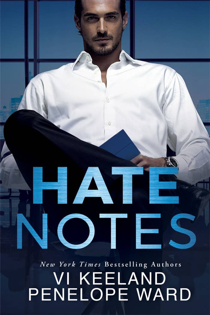"""Hate Notes by Vi Keeland & Penelope Ward#1 AMAZON BESTSELLERRelease Date: November 6, 2018Synopsis:Amazon's #1 Most Unputdownable Book of the Year.An Amazon Charts bestseller.A Wall Street Journal bestseller.A Washington Post bestseller.From New York Times bestselling authors Vi Keeland and Penelope Ward comes an unexpected love story of secondhand hearts and second chancesIt all started with a mysterious blue note sewn into a wedding dress.Something blue.I'd gone to sell my own unworn bridal gown at a vintage clothing store. That's when I found another bride's """"something old.""""Stitched into the lining of a fabulously feathered design was the loveliest message I'd ever read: Thank you for making all of my dreams come true.The name embossed on the blue stationery: Reed Eastwood, obviously the most romantic man who ever lived. I also discovered he's the most gorgeous. If only my true-love fantasies had stopped there. Because I've since found out something else about Mr. Starry-Eyed.He's arrogant, cynical, and demanding. I should know. Thanks to a twist of fate, he's my new boss. But that's not going to stop me from discovering the story behind his last love letter. A love letter that did not result in a happily ever after.But that story is nothing compared to the one unfolding between us. It's getting hotter, sweeter, and more surprising than anything I could have imagined.Something new.But I have no idea how this one is going to end…"""