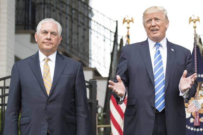 Tillerson and Trump in August 2017.
