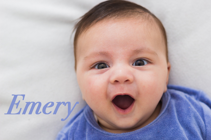 "Emery was originally a male German name meaning ""brave"" and ""powerful."" Today it's popular for male and female names."