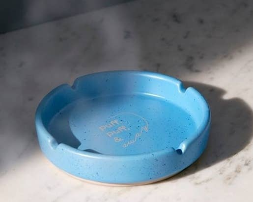 "Promising review: ""This ashtray is absolutely perfect in every way. The design is beautiful, it has a sturdy weight to it, and it's big enough to hold a lot of ash."" —Olivialav1234Get it from Urban Outfitters for $10 (originally $12)."