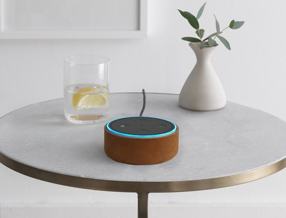 """In addition to proving YES, that actor WAS in that movie you saw last week, the Dot (powered by Alexa) will tell you the news, weather, play Jeopardy with you, play music, power any connected lights or appliances, and so much more. Google searches? I don't know her.Get it from Amazon for $24.99.Promising review: """"I don't know how I even functioned before I had one of these. This one device has ended the age-old 'COULD YOU JUST CHECK WHAT TIME IT CLOSES PLEASE!' argument in my house. Want to know what traffic is like? Do you want to know when the movie starts? How about you want to wake up on time but you just found the comfy warm spot & realized your didn't set alarms for the morning so you are playing the alarm roulette game? Want to know about when that restaurant closes? Or maybe you need to turn on calming sleepy time music but your hands are trying to wrestle an infant screaming bloody murder because they enjoy being nudie and you are trying to get them into their feetie jim jams? ALEXA CAN HELP WITH THAT! It's only $50 ... just make your life easier.""""—Niki"""