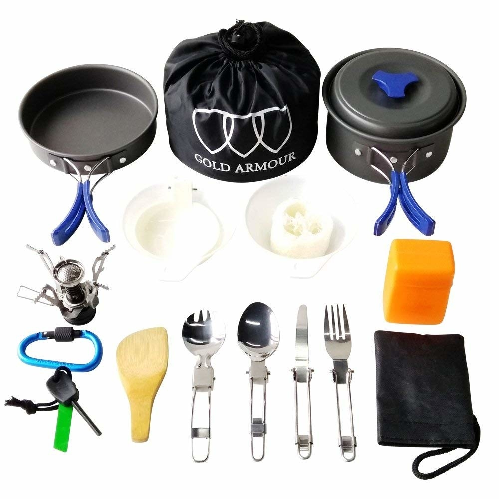 different parts of the mess kit